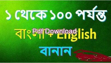 Photo of 1-100 বাংলা বানান pdf (বাংলা নাম্বার স্পেলিং)